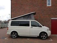 Volkswagen T5 1.9, 4 berth Campervan in white. 57 plate and has covered 75000 miles