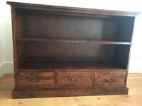 Laura Ashley Garrat Chestnut low bookcase
