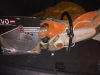 Stihl saw st410 with brand new evo blade