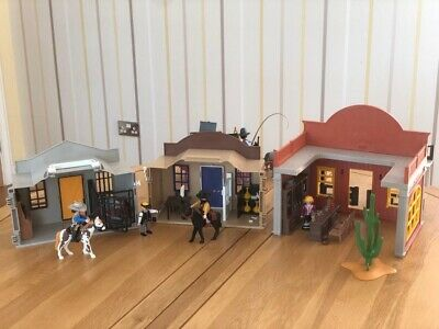 Playmobil Western City - Sheriff, Bank, Saloon and Stagecoach Bundle