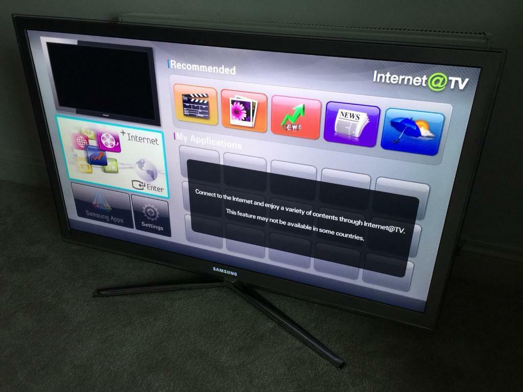"Samsung 46"" smart 3D LED HD tv  LED light up on Logo! Rrp: £1800 