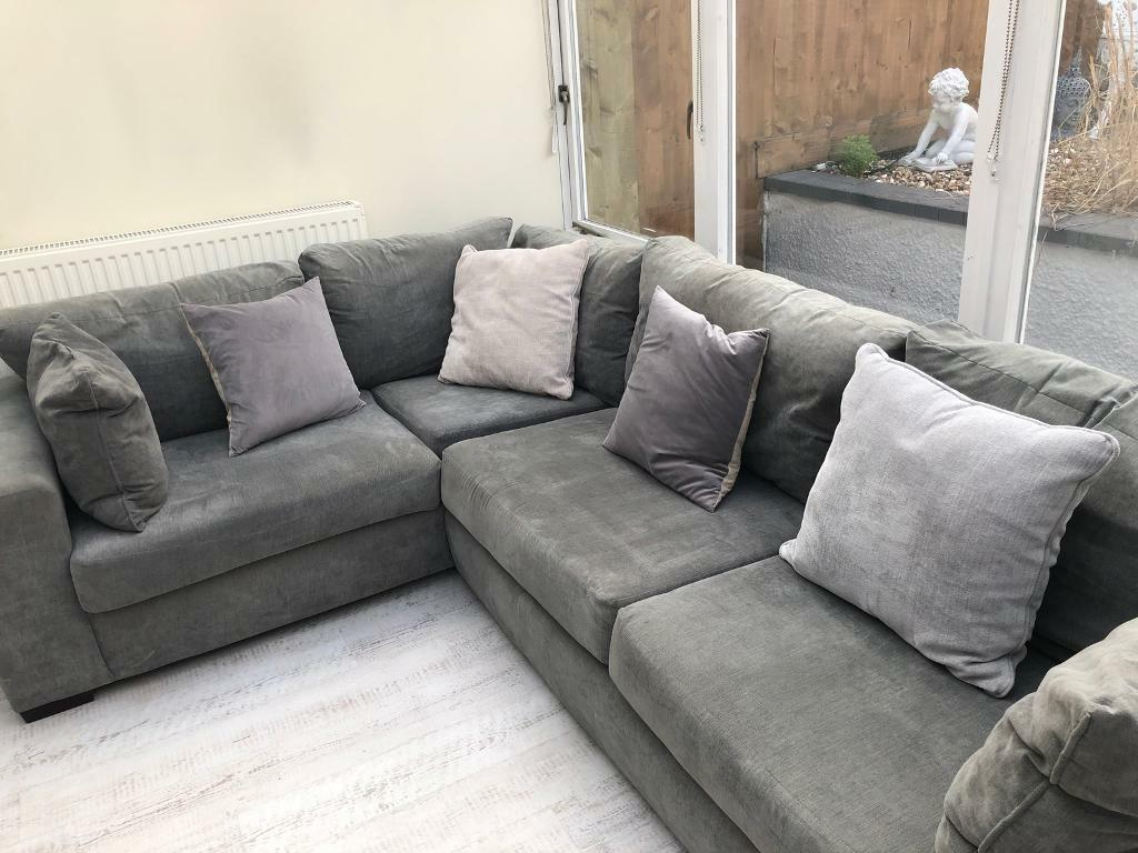 Modern Corner Sofa in Charcoal Grey - from Argos Eaton range | in ...