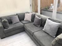 Modern Corner Sofa in Charcoal Grey - from Argos Eaton range
