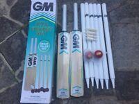 M Six6 cricket sets ( 2 X cricket bats, 2 X stumps, 2 balls ) BRAND NEW
