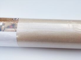 12 rolls of beige natural plain wallpaper for price of 10