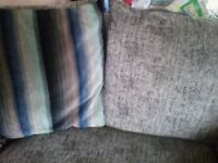 Grey and duck egg blue couch