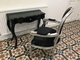 Desk and chair set vintage appearance Desk W 82cm D 36cm H 73cm Chair W60cm D56cm H100cm
