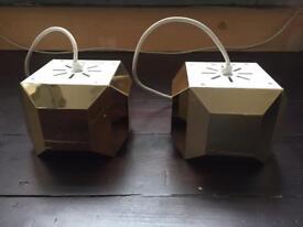 "Designer Lee Broom ""One Light Only"" Gold Art Deco Geometric Pendant Lights"