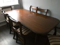 6 place mahogany dining table