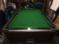 7' Slate Bed Pool Table