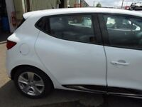 2015 RENAULT CLIO MK4 DOOR DRIVER SIDE REAR IN WHITE COMPLETE #6174