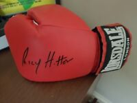 Autographed Ricky Hatton Lonsdale boxing glove