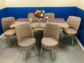 💥💯MONEY SAVINGS SALE 💯💯ON LOUIS VUITTON EXTENDABLE DINING TABLE AND 6 CHAIRS