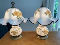 Beautiful Lalique style side lights