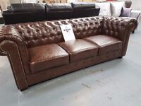 Brand New 3+2 Chesterfield. Comes In Brown As Seen In Main Picture Or Ox Blood Red