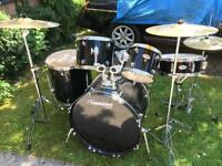 Mapex tornado drum kit with Sabina SBR cymbal set