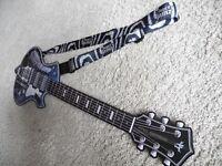 Paper Jamz Pro Series Guitar & Instant Rockstar Strap – Zebra