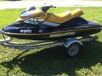2006 RXP sea doo and trailer. very low hours