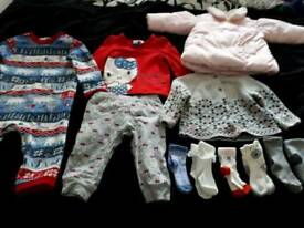AGE 6/9 MONTHS SELECTION OF BABY GIRLS CLOTHES