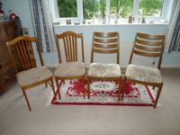 2 sets of two Dining chairs