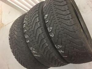 3 Goodyear Nordic winter tires:175/65R14