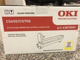 Unused genuine image drum (yellow) for OKI C5650/C5750