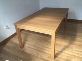 Extendable dining table 175w x 95d x 74h