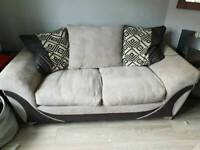 sofa bed and one seater snuggle chair and foot stool