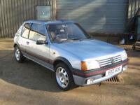 Peugeot 205 1.9 GTi 1987 E-reg Topaz Blue, 67k miles.