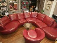 Urgent sale!!! Leather and Leather Look Left Arm Facing Corner Sofa @&&