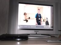 """20"""" LCD TV with you view box , all leads , remotes ,& instructions"""