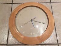 Kitchen Clock with Pine Edge