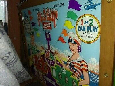 1957 Vintage Gottilieb Flag-Ship Pinball Machine (Near Mint)