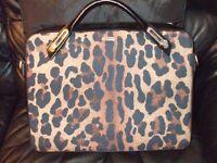 Abbi designer girls laptop case with leopard print
