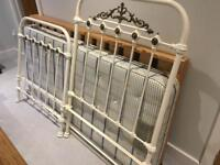 Victorian brass and cast iron single bed
