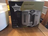 Tommee tippee steriliser and perfect prep machine