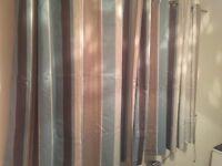 Pair striped Curtains 54 Drop