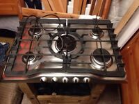 Zanussi gas hob ready to use all pipes 68cm x50 cm