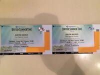 Justin Bieber Hyde Park 02/07/17 tickets x 2