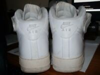 NIKE AIR HIGH TOP WHITE LEATHER (UK SIZE 9)