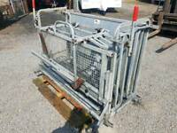 Galvanised ironworks sheep turnover crate farm livestock tractor farm