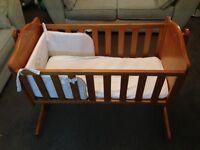 Crib, great condition, includes bumper and mattress