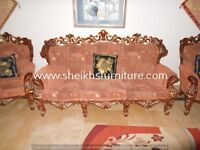sofas for living and drying in wooden carved antique style