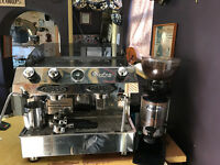 Fracino Dual Fuel Classic Coffee Machine, With coffee Grinder and Water softener