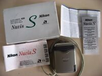 BOXED NIKON NUVIS S APS CAMERA NIKON ZOOM LENS 22.5mm - 66mm Macro + INSTRUCTIONS £9