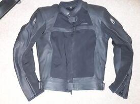 "Richa Rex Leather & Textile mens motorcycle jacket Size 40""-42"" VGC"