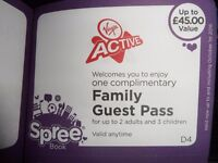 VIRGIN ACTIVE VOUCHER from spree book 2015 / 2016