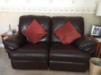 John Peters 2 Seater Brown 100%Leather Sofa