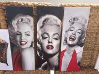 3 Marilyn Monroe canvas' for sale