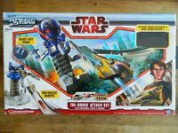 Hasbro Star Wars Tri Droid Attack Set with Anakin Skywalker's Jedi Starfighter